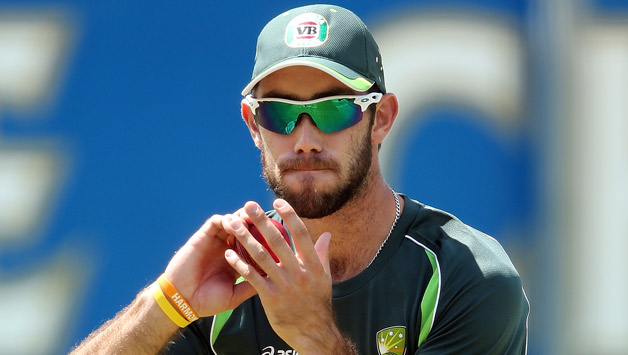 Australian cricketer Glenn Maxwell trains ahead of the first T20 © Getty Images