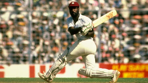Vivian Richards was at his belligerent best when he amassed 110 off just 58 balls against England at Antigua in April 1985-86 © Getty Images (File Photo)