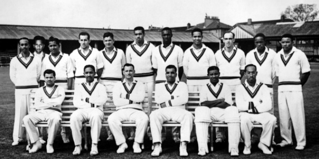Back, from left: Andy Ganteaume, Rohan Kanhai, Nyron Asgarali, Gerry Alexander, Denis Atkinson, Tom Dewdney, Wes Hall, Garry Sobers, Bruce Pairaudeau, Roy Gilchrist, Collie Smith; front, from left: Sonny Ramadhin, Frank Worrell, John Goddard (c), Clyde Walcott, Everton Weekes, Alf Valentine    Getty Images