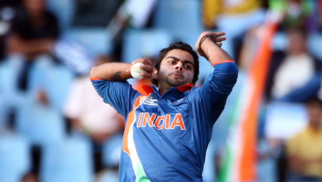 Virat Kohli takes wicket with the first (0th?) ball of his T20I career - Cricket Country