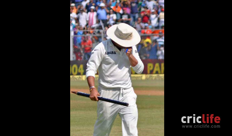 Sachin held his face in his hand and sobbed as his career came to a close.
