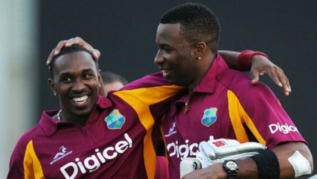 Dwayne Bravo (left) and Kieron Pollard are among the most prolific batsmen in the West Indies one-day side presently © Getty Images