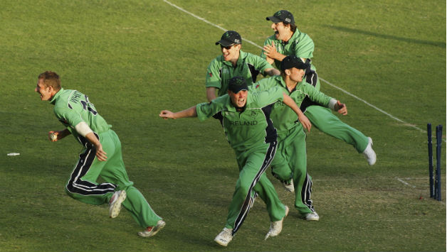 Ireland celebrate after 'saving' after their first World Cup match © Getty Images