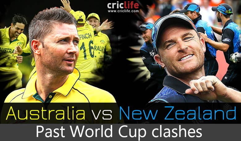 Icc World Cup 2015 New Zealand Vs Australia In Past World Cup Matches Cricket Country