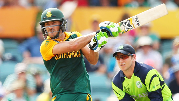 Faf du Plessis of South Africa in a World Cup Match against Ireland © Getty Images