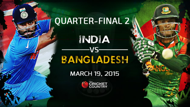 INDIA VS BANGLADESH ICC Cricket World Cup 2015, Quarter-Final 2.