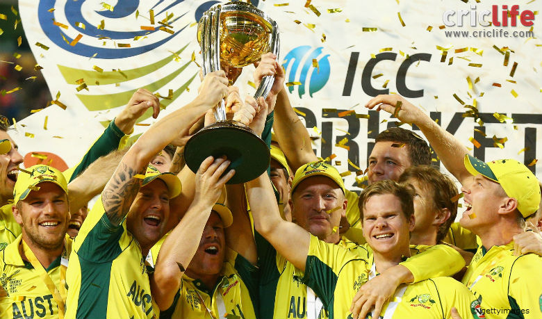 Icc Cricket World Cup 2015 Australia Win The Trophy For The