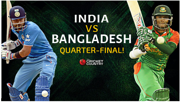 Live Cricket Score INDIA VS BANGLADESH ICC Cricket World Cup 2015.