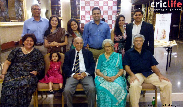 Four generations of the Apte family were present on what was memorable evening at the Wankhede Stadium. Photo: Milind Wagle.