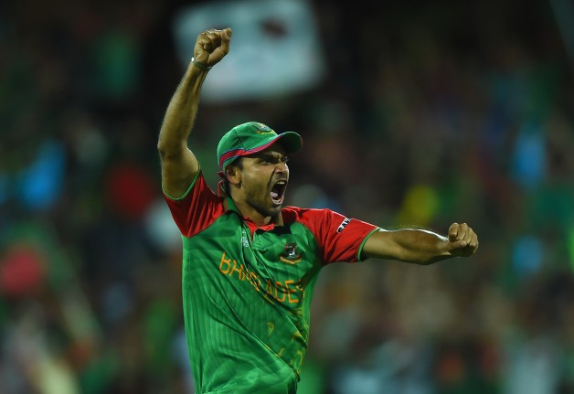 Mashrafe Mortaza led Bangladesh into their maiden World Cup quarter-finals © Getty Images