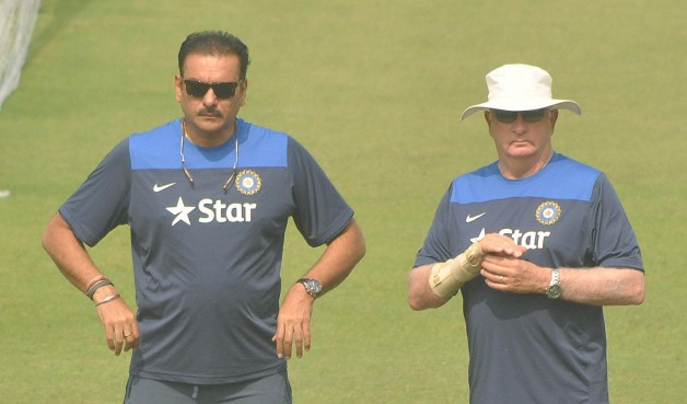 Ravi Shastri (left) is now the team Director of Team India © IANS