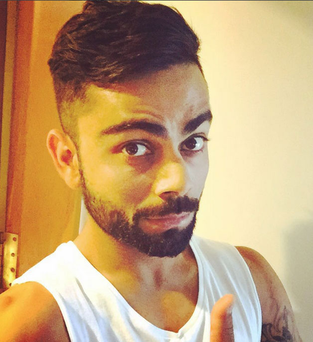 Photo Virat Kohli Sports New Hairstyle Ahead Of 2nd Test Against Sri Lanka At Colombo Cricket Country