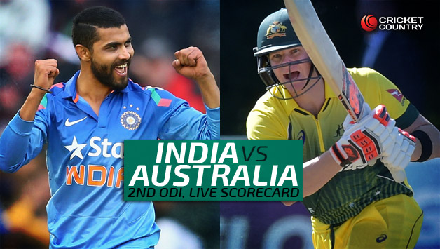 India Vs Australia 2nd Odi Live Scorecard