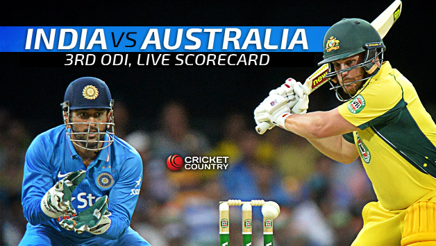 Live Cricket Scorecard, India vs Australia 2015-16, 3rd ODI at