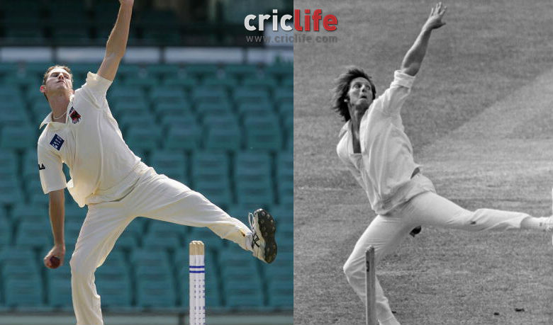 Shaun Tait (left) and Jeff Thomson (right). Image courtesy: Getty Images