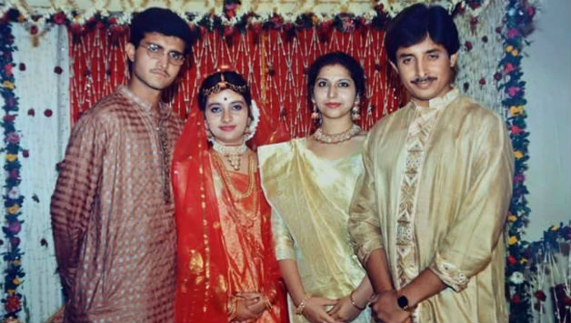 A rare of photo of Sourav Ganguly's marriage. Photo Courtesy: Facebook