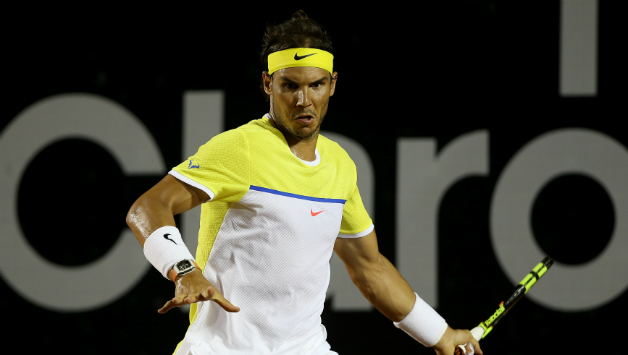 8ce52af17911 Rafael Nadal (above) kicked off his French Open campaign on a winning note  by