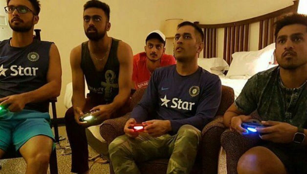 PHOTO: MS Dhoni & Co engage in a football match after 3rd ODI against Zimbabwe