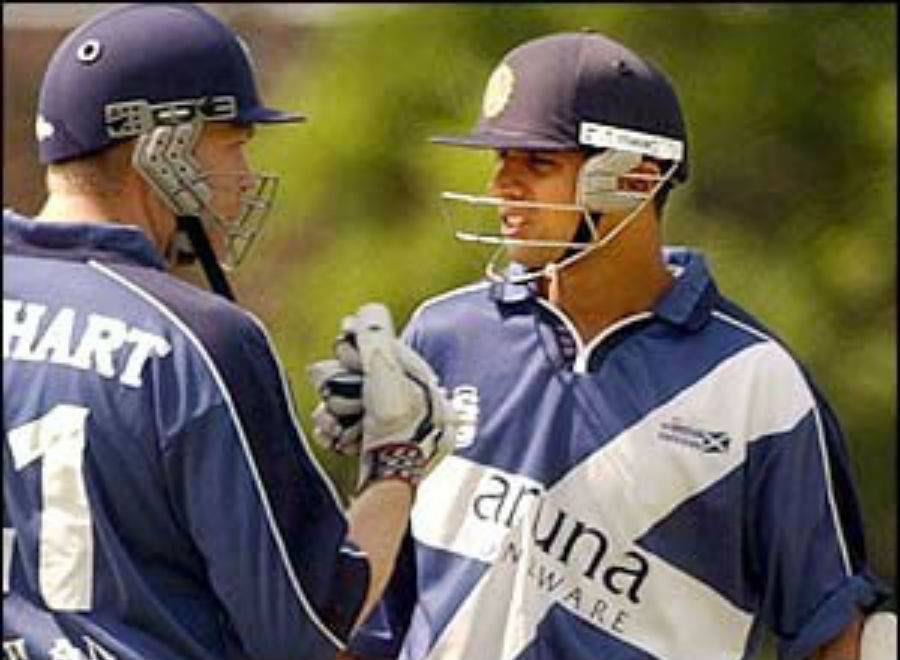 When Rahul Dravid played from Scotland