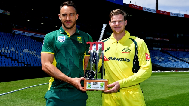 Faf Du Plessis And Steven Smith Ahead Of The Odi Series Getty Images