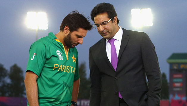 Wasim Akram (right) and Shahid Afridi (left) Getty Images