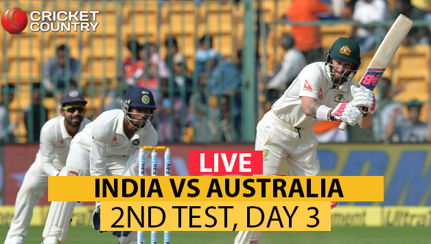 India Vs Australia Live Score Ind Aus 2nd Test