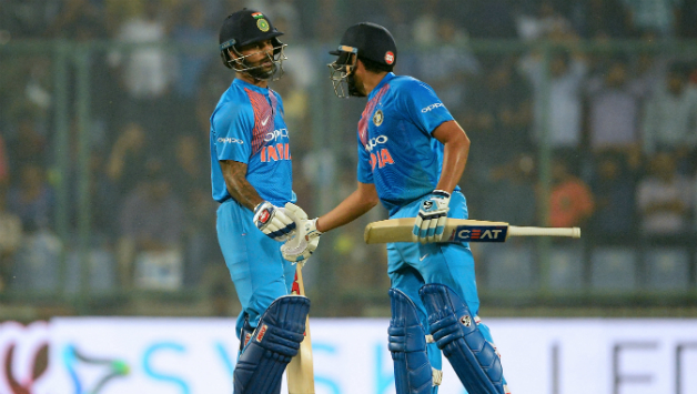 Shikhar Dhawan and Rohit Sharma were involved in the highest opening stand for India in T20Is    AFP