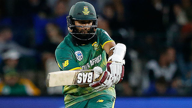 Hashim Amla played a lone hand for South Africa. He scored his 35th ODI fifty in the process © AFP
