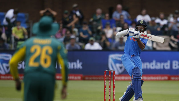 Shikhar Dhawan provided India a swift start but fell for 34 playing the pull © AFP