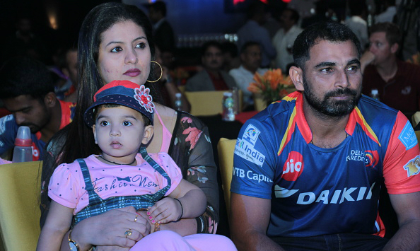 Mohammed Shami with wife Hasin Jahan and daughter © Getty Images
