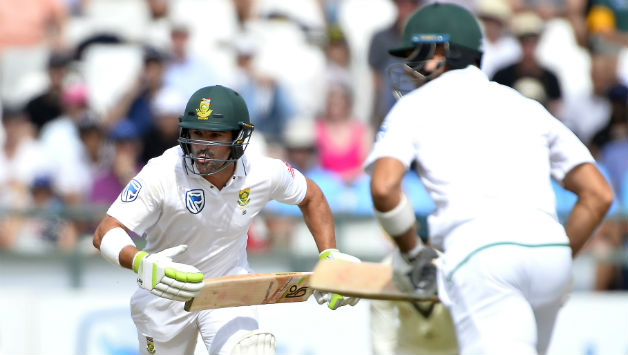 First innings centurion, Dean Elgar, felll cheaply but South Africa are in command © Getty Images