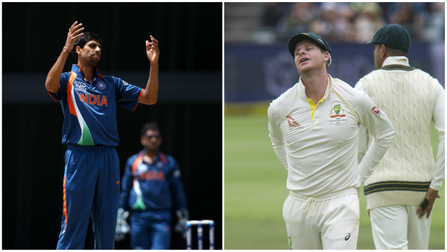 Ashish Nehra and Steven Smith © Getty Images