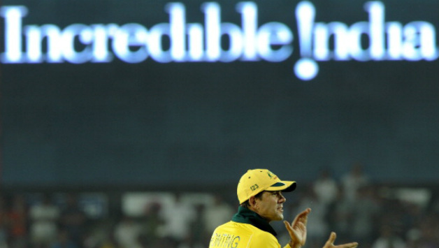 For the first time in Ricky Ponting's career, he did not play the World Cup final (Image courtesy: AFP)