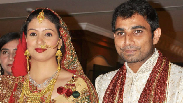 Mohammed Shami (right) and Hasin Jahan got married in 2014 © PTI