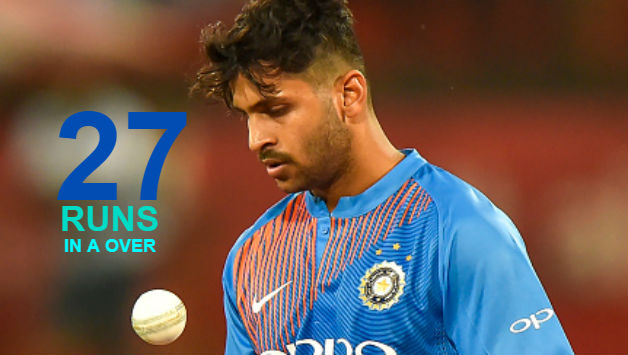 Shardul Thakur conceded 2nd most runs in a over by an Indian bowler in T20Is © AFP