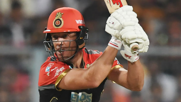 AB de Villiers top scored for Bangalore, making 43 runs. He added a crucial stand with Virat Kohli © AFP