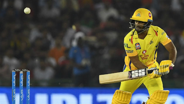 Ambati Rayudu was run out for 49 after a mix up with MS Dhoni  © AFP