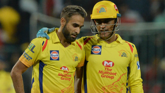 Imran Tahir was MS Dhoni's trump card, getting rid of ABD and Corey Anderson © AFP