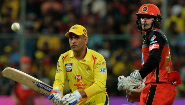 MS Dhoni scored 70* in CSK's 5 wicket win over RCB © AFP