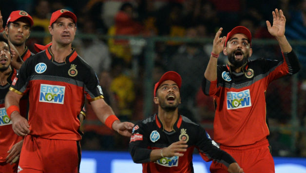 RCB were off to a great start picking wickets of Suresh Raina and Shane Watson © AFP