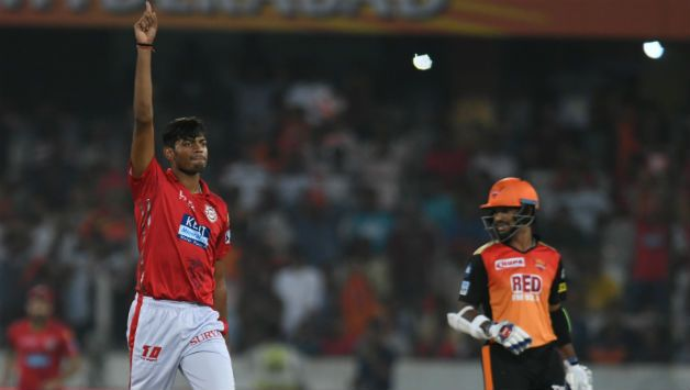 Ankit Rajpoot finished with 5 for 14 © AFP