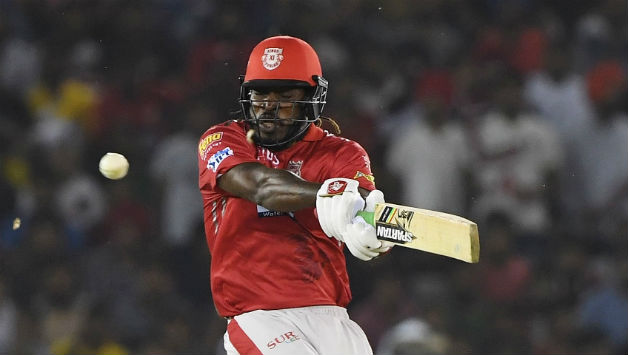Chris Gayle's innings included 7 fours and 4 sixes © AFP