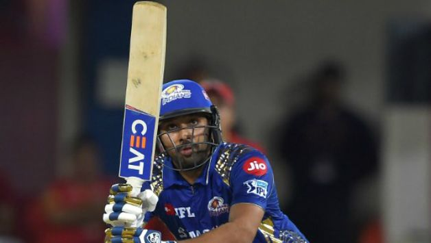 Rohit Sharma scored an unbeaten 24 off 15 for MI © AFP