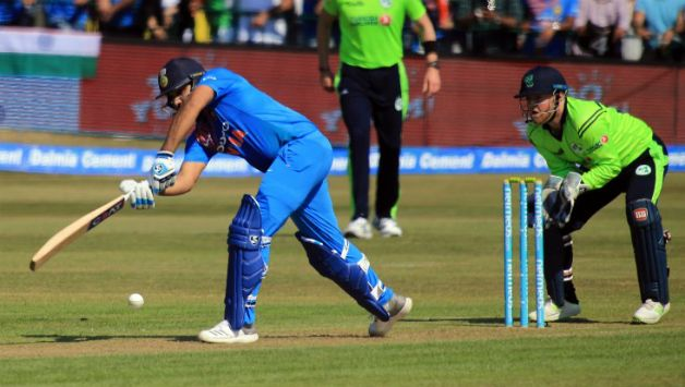 Rohit Sharma was the highest run-scorer in the innings with 97 runs © AFP