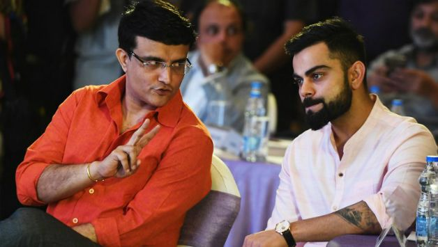 Sourav Ganguly and Virat Kohli © AFP