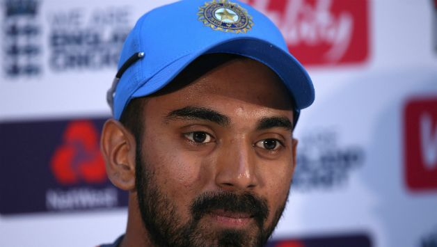 KL Rahul at the eve of match Press Conference in Cardiff © Getty Images
