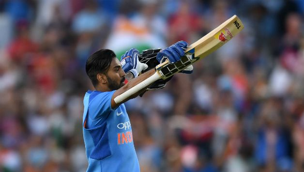 KL Rahul recorded his second T20I ton © Getty Images