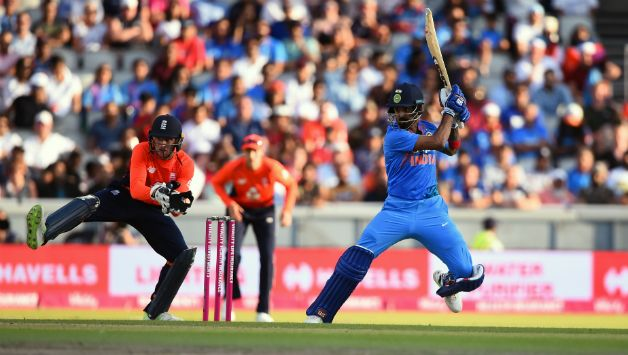 KL Rahul recorded his second T20I century guiding India to victory © Getty Images