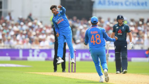 Kuldeep Yadav recorded best figures by a spinner vs England © Getty Images