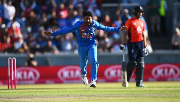 Kuldeep Yadav recorded his career best figures 4-0-24-5 © Getty Images